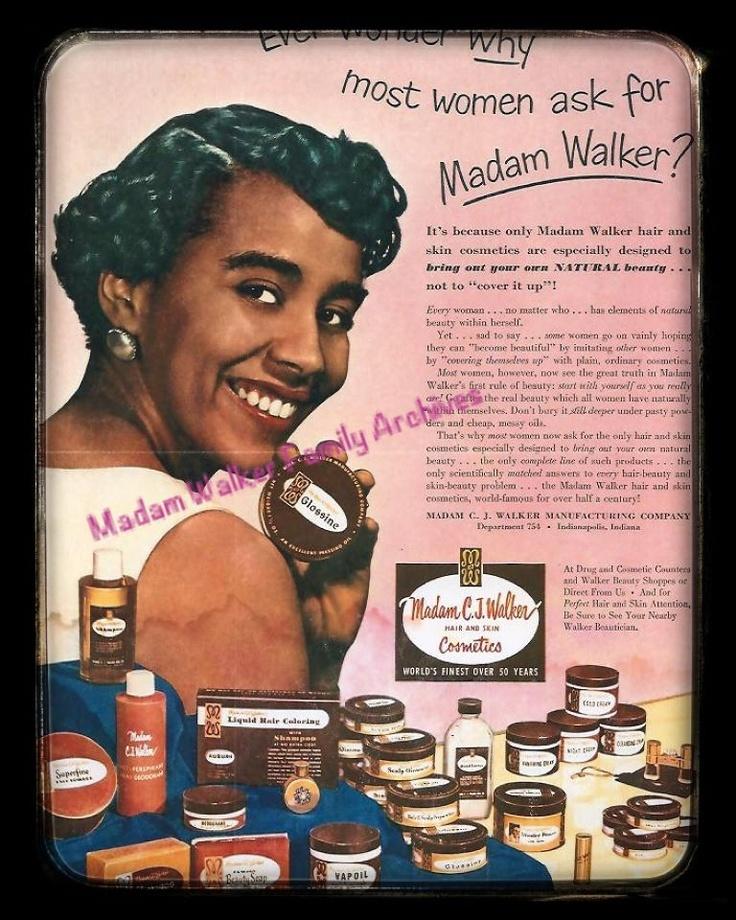 C-J WALKER : 1ère success story noire dans les cosmétiques !