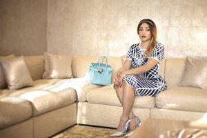 Danielle Sassou Nguesso Gold sofa